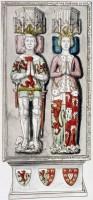 Chevalier Jehan de Fleurigny et son épouse Marguerite de Ferrières