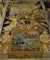 tombe du chevalier de Malte François Leclerc de Fleurigny, nef de la co-cathédrale de La Valette (Malte)  - 6e rang