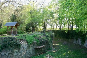 Puits et douves du château de Plessis Saint Jean