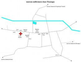 Carte des maisons millesimees de Fleurigny